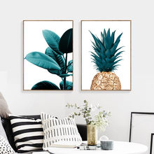 Nordic Pineapple Painting Wall Posters Cuadros Decoracion Posters And Prints Plant Art Poster Canvas Painting No Photo Frame(China)