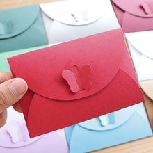 20Pcs 10.5*7cm Lovely Paper Envelopes Vintage Wedding small Envelope Colorful Gift Butterfly Kraft for party supply