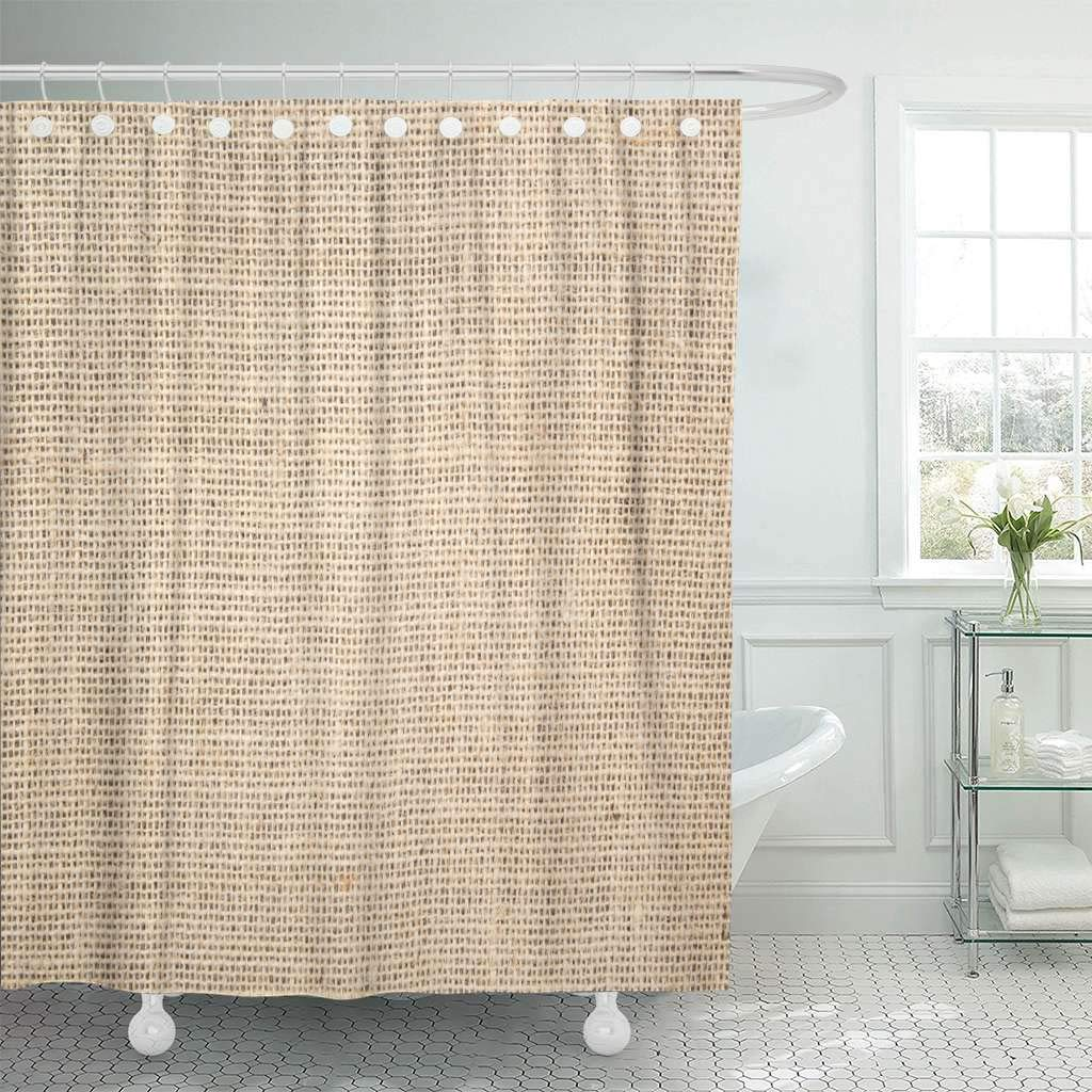 Detail Feedback Questions About Fabric Shower Curtain With Hooks Abstract Burlap Aged Canvas Close Coarse Construction Drapery Eco Decorative Bathroom On