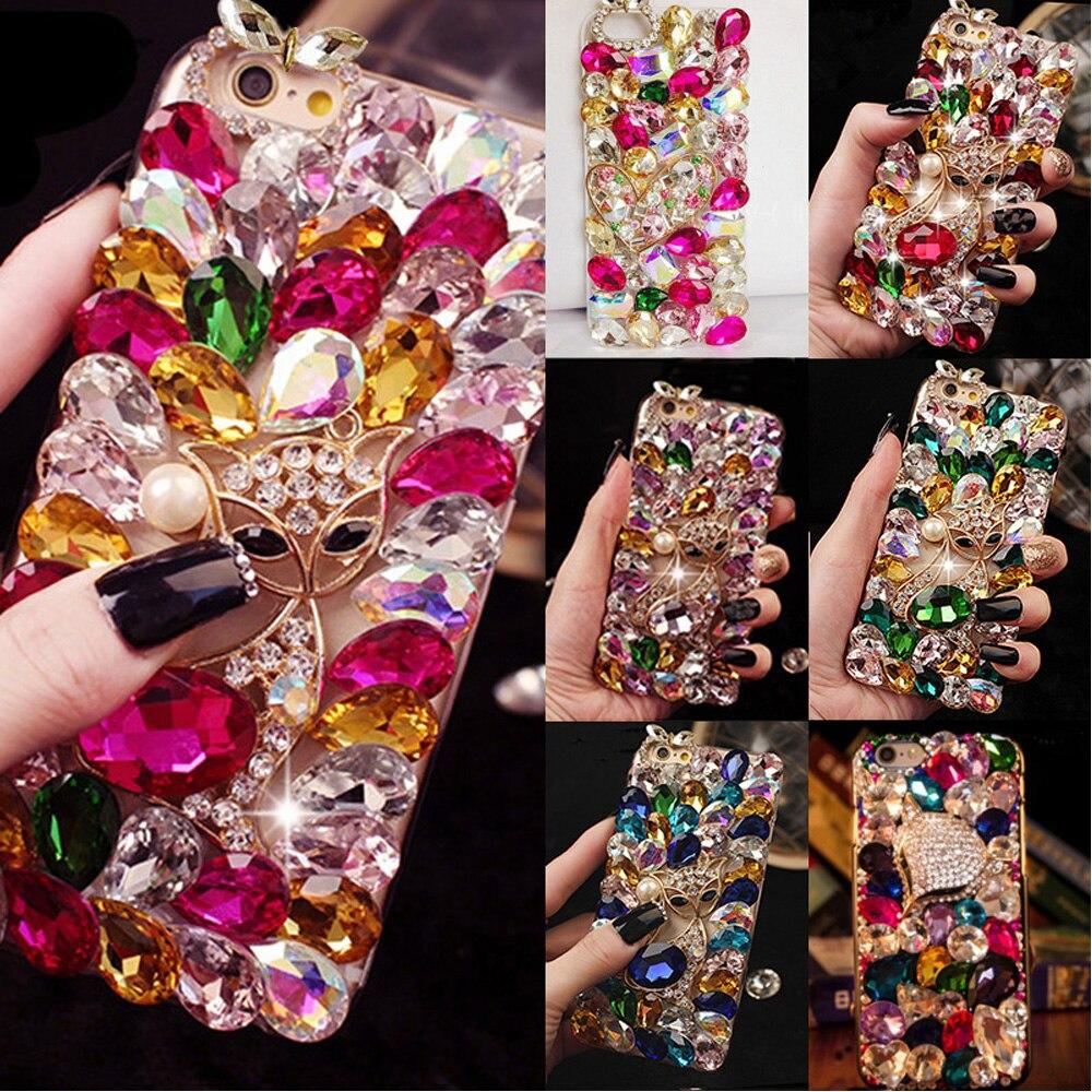 Bling Schöne Kristall Diamanten Strass 3d Steine Telefon Fall Für Iphone 4/4 S Große Bling Steine Mode Tpu + Pc Acryl Shell