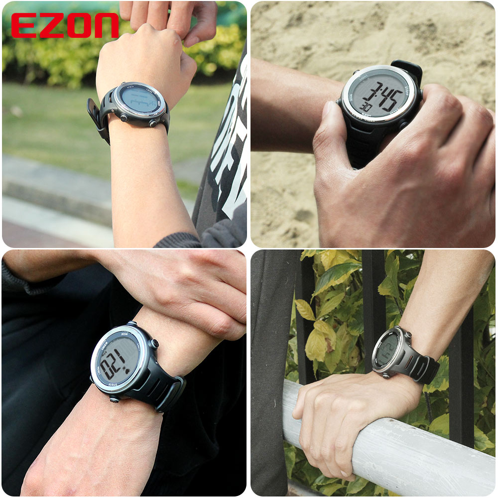 EZON T007 Սրտի գնահատման մոնիտոր Ֆիթնես - Տղամարդկանց ժամացույցներ - Լուսանկար 6