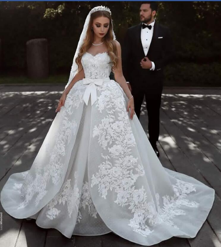 Beautiful Princess Wedding Gowns: Beautiful Princess Lace Wedding Dresses With Long