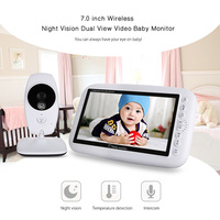 FIMEI 2 4GHz Wireless Baby Monitor TFT LCD Dual View Video Baby Slepping Monitor WiFi Baby