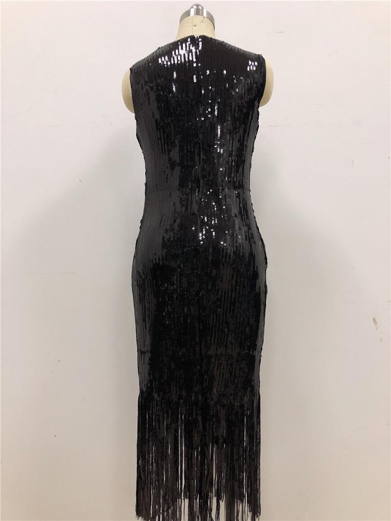 Homecoming Gland Black Mi Femmes Parti Solide Manches Robe Sans Longueur Paillettes Sexy kiPuZOX