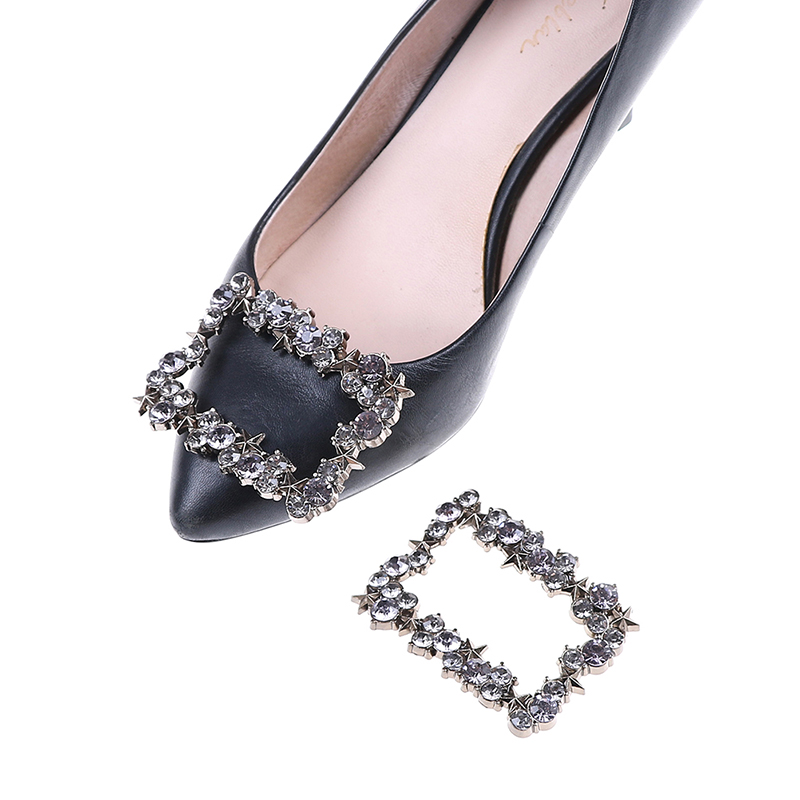 1PC Alloy Rhinestone Metal With Pentagram Shoes Buckle Women Bridal Prom Elegant Shoe Clips Decor цена