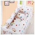 6 PCS Berço cama 100% bebê Berço cama set folha de Conjuntos de cama de bebê Fundamento Do Bebê Berço Berço Bumper