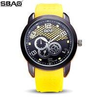 SBAO Marka Fabrika Toptan Kuvars Erkekler Renkli Silikon Saatler Erkek Moda Rahat Erkek Açık Spor Askeri Sıcak Satış Saat