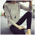 Hot Korean Style Autumn Winter Oversized Loosen Short Bottom Cotton Solid Color Knitted Women Sweaters And Pullovers S-XXXL Size
