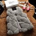 2016 Luxury Real Fox Fur Vest Waistcoat Autumn Winter Women Fur Outerwear Coats Female Gilet Patchwork Style 0711