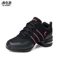 No mijo mujeres bailando Zapatos negro rojo blanco baile de Jazz zapatillas  de deporte 98a70528818