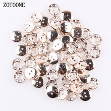 ZOTOONE 100pcs/lot 13mm Round Shape 2 Holes Metal Buttons Garment Hat Sewing Accessories DIY Craft Decorative D
