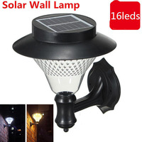 16 LED Solar Lights Outdoor LED Solar Lamp Super Bright Garden Street Lawn ABS Plastic Solar