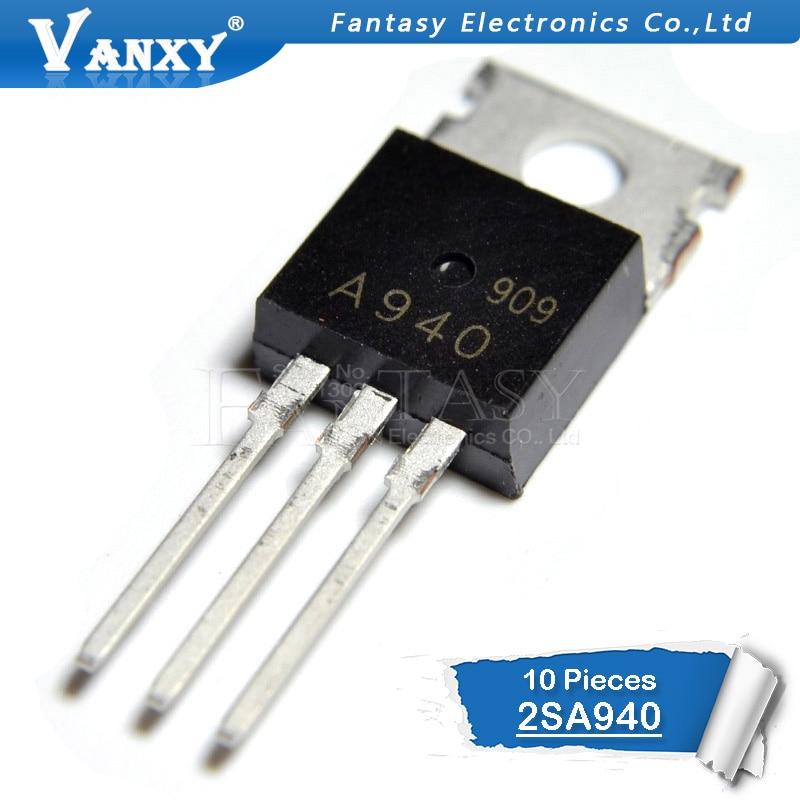 10pcs 2SA940 TO-220 A940 TO220 1.5A 150V Transistor Original