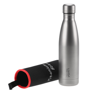 Image 2 - Lixada 500ml Titanium Water Bottle Double Walled Vacuum Insulated Sports Water Bottle Camping Hiking Cycling  Outdoot Tableware