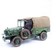 Масштаб модели военной техники старинный автомобиль модель военный автомобиль ЗЕЛЕНЫЙ 665 кованого железа ремесел, подарки, деловые подарки