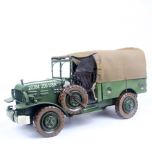 scale model military vehicles vintage car model of military vehicle green 665 Wrought iron crafts gifts