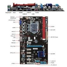 1pc PCI-E 1X Riser Board 6 GPU H81 Mining Motherboard PCI-E Extender Riser Card For BTC Eth Rig Ethereum EM88