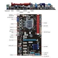 1pc PCI E 1X Riser Board 6 GPU H81 Mining Motherboard PCI E Extender Riser Card For BTC Eth Rig Ethereum EM88