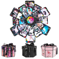 DIY Handmade Photo Album Explosion album Box for Valentine's Day Box Institutions Scrapbooking Lovers Children Gift Photo Album