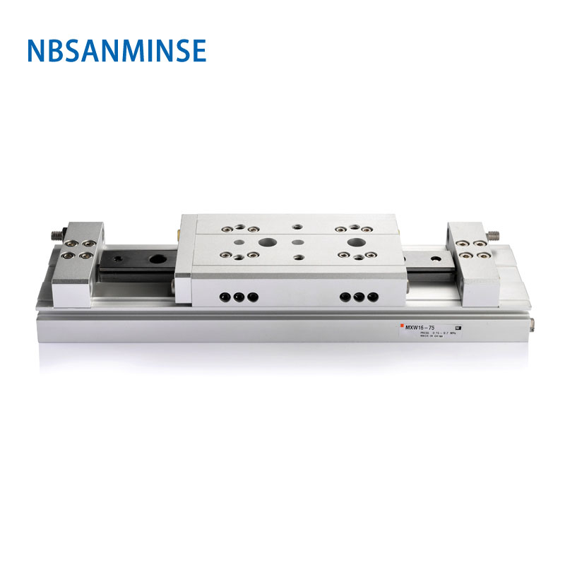 NBSANMINSE MXW 8 12 16mm cylindre d'air Table à glissière pneumatique Double effet pièces d'automatisation de l'industrie