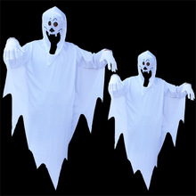 Umorden Halloween Party Costumes Family Matching Scary White Ghost Costume Cosplay Robe for Adult Kids Children