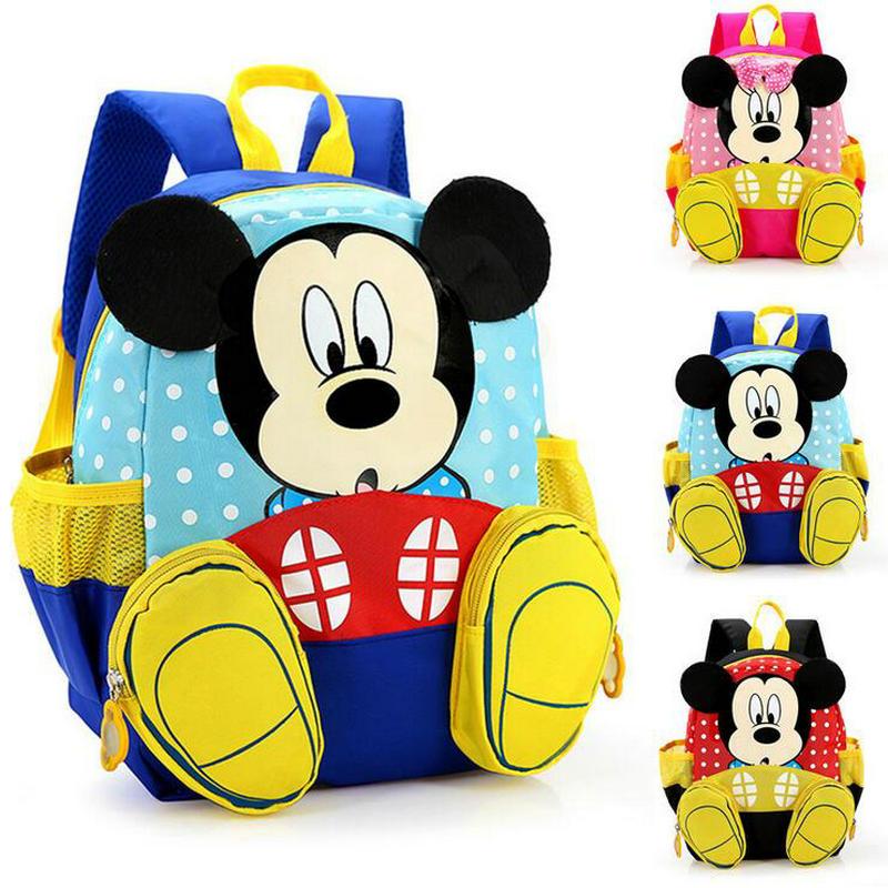 2018 Hot Sale Mickey School Bag Minnie for Boys Girls baby Bag Children Backpack Kindergarten Backpack kid School Bags Satchel
