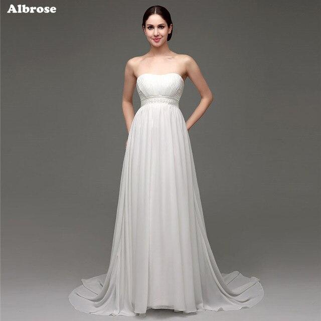 Пикантные без бретелек свадебное платье для беременных Для женщин бисером Свадебные платья Элегантный Средства ухода за кожей для будущих мам торжественное платье Chic Vestidos De Novia