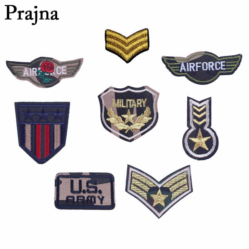 Prajna US Army Air-Force Military Patches Army Patch Tactical Badge Stripe On Clothes Stickers Jacket Application For Clothes