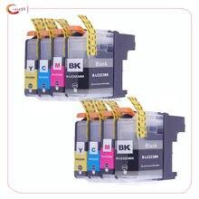 8 bloco lc223 cartucho de tinta compatível irmão DCP-J562DW/MFC-J480DW/MFC-J680DW/MFC-J880DW tintas de impressora