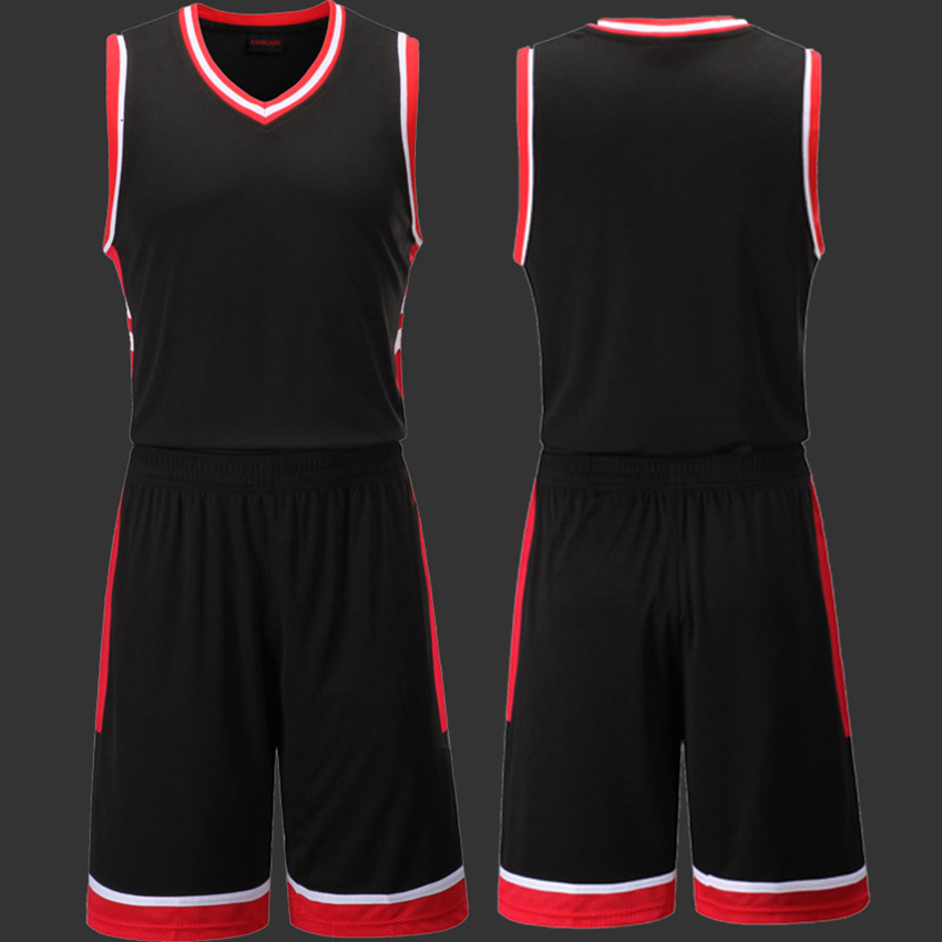 b5df51d0d889 Blank Basketball Jersey Sets Men Competition Uniforms Suits Adults Sports  Clothes Sets Running Tracksuits Training Sportswear-in Basketball Jerseys  from ...