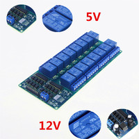 DC 5V 12V 16 Channel Relay Module Interface Board For Arduino PIC ARM DSP PLC With