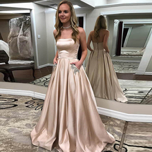 Satin Evening Dresses Long 2019 A-Line Vestido De Festa Strapless Party Formal Prom Pageant Ball Gowns Lace Up Corset strapless lace insert corset