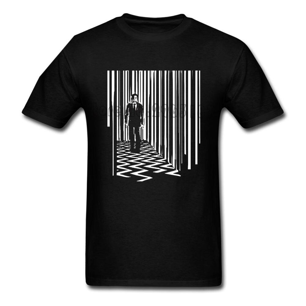 Черный Лодж Твин Пикс футболка для мужчин лето 100% хлопок клуб взрослых большой костюмы с принтом Летние Удобные папа футболки