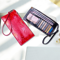 Female Long Fashion Style Womens Wallets Card Holder Genuine Leather Wallet Coin Purse Ladies Designer High Quality Clutch Bag