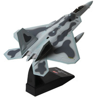 1:100 Metal F22 Aircraft Model Simulation America Raptor Fighter Aviation Military Science Exhibition Aircraft Model Adult Toys