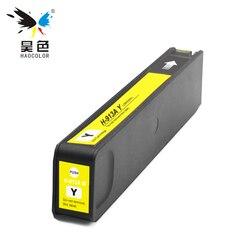 HAOCOLOR żółty kolor regenerowany pojemnik na bazie pigmentu wkłady atramentowe HP 913 913A HP913 HP913A pochodzenia wkłady