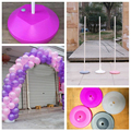 Plastic base for balloon column Wedding Balloon decoration Event party supplies /Market Promotional advertising base No pole