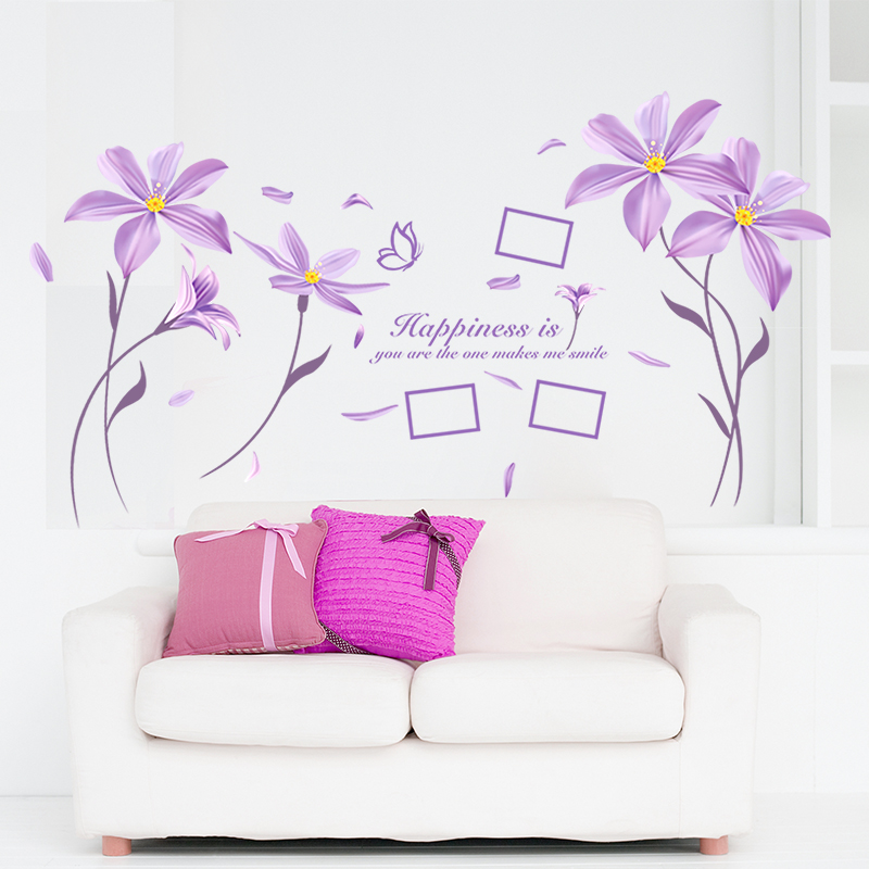 Removable Living Room Sofa Background Wall Stickers Wall