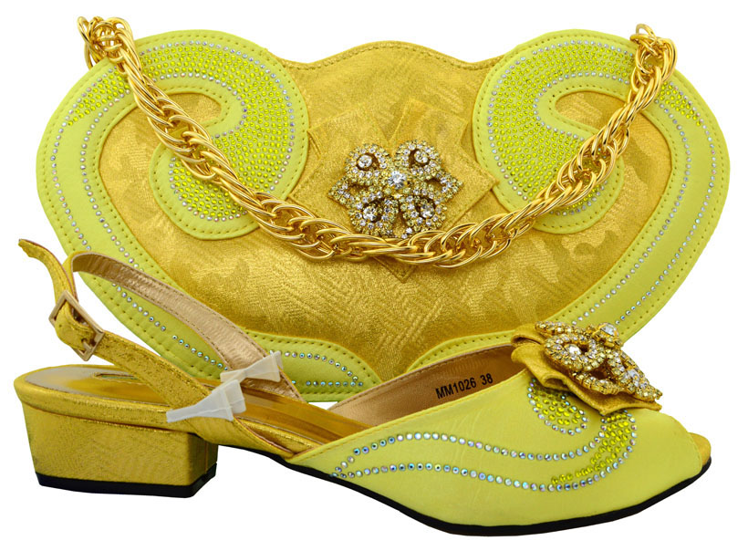 ФОТО Latest 3.6 CM Low Heels Fashion Italian Matching Shoe and Bag Set African Wedding Shoes and Bag Sets Matching Shoe and Bags Sets
