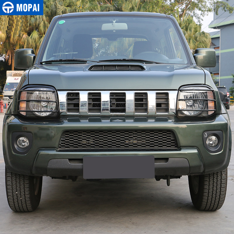Image 2 - MOPAI Car Lamp Hoods for Suzuki jimny 2007 Up Metal Car Headlight Head Light Lamp Cover Stickers for Suzuki jimny Accessories-in Lamp Hoods from Automobiles & Motorcycles