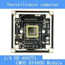 HD Color CMOS 800TVL camera module surveillance cameras H7440H PCB Board PAL / NTSC Optional