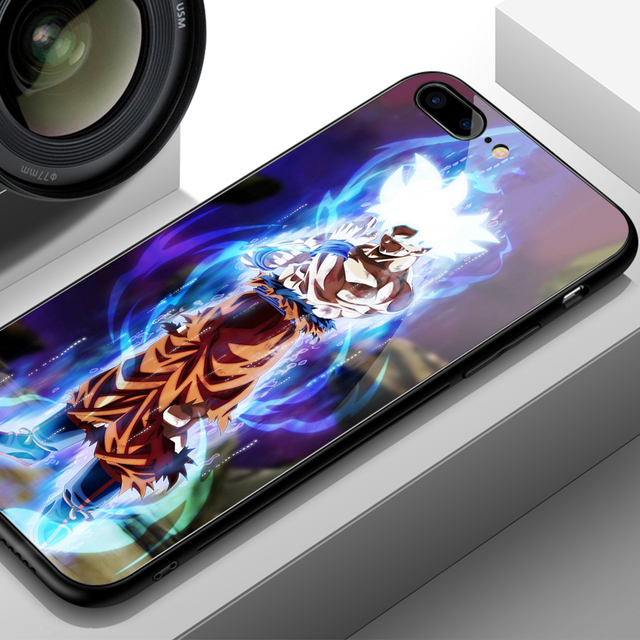 Dragon Ball Super Saiyan Glass Cover Case for iPhone Models