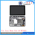 New 10.1'' inch For Asus MeMo Pad 10 ME102 ME102A V2.0 V3.0 LCD Display Touch Screen Digitizer Assembly Panel Monitor+Frame