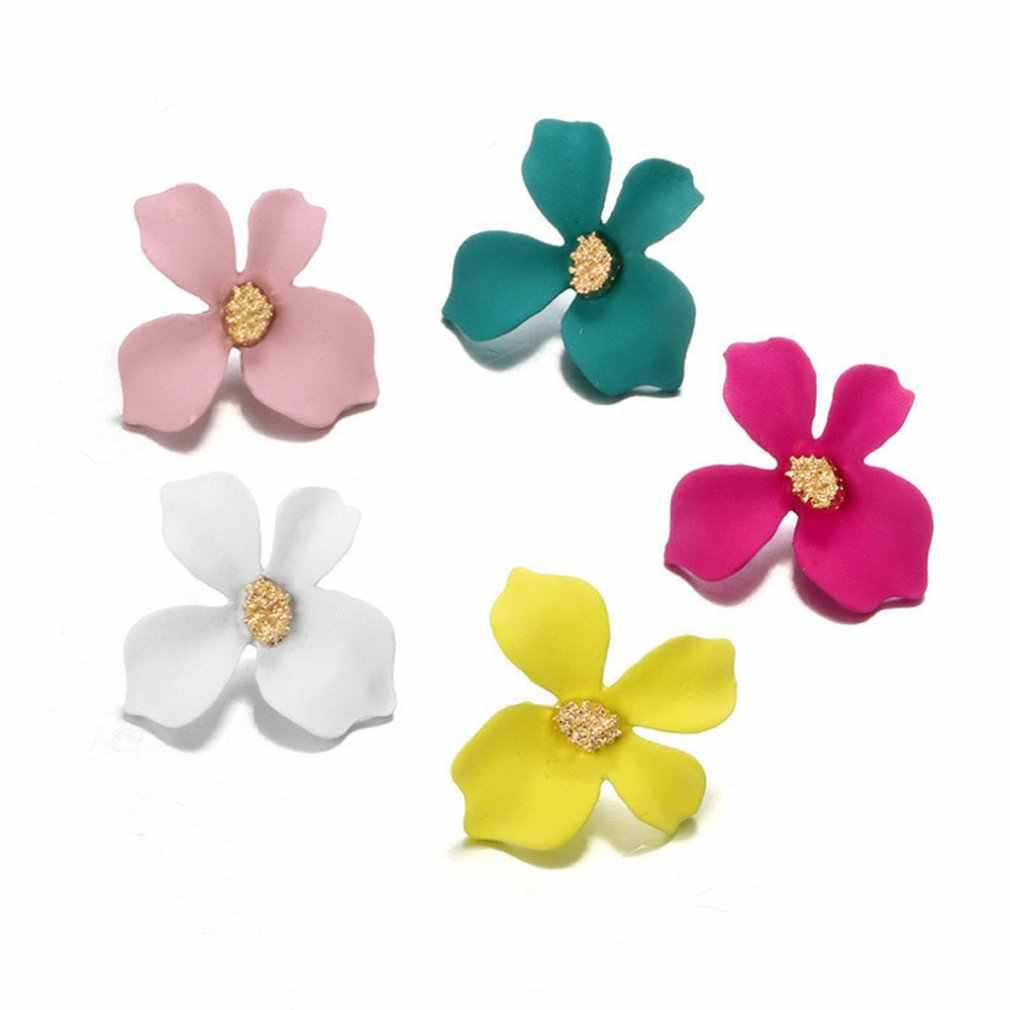Korean Style Cute Flower Stud Earrings For Women 2019 New Fashion Sweet Earrings Femme Brinco Jewelry Dropshipping