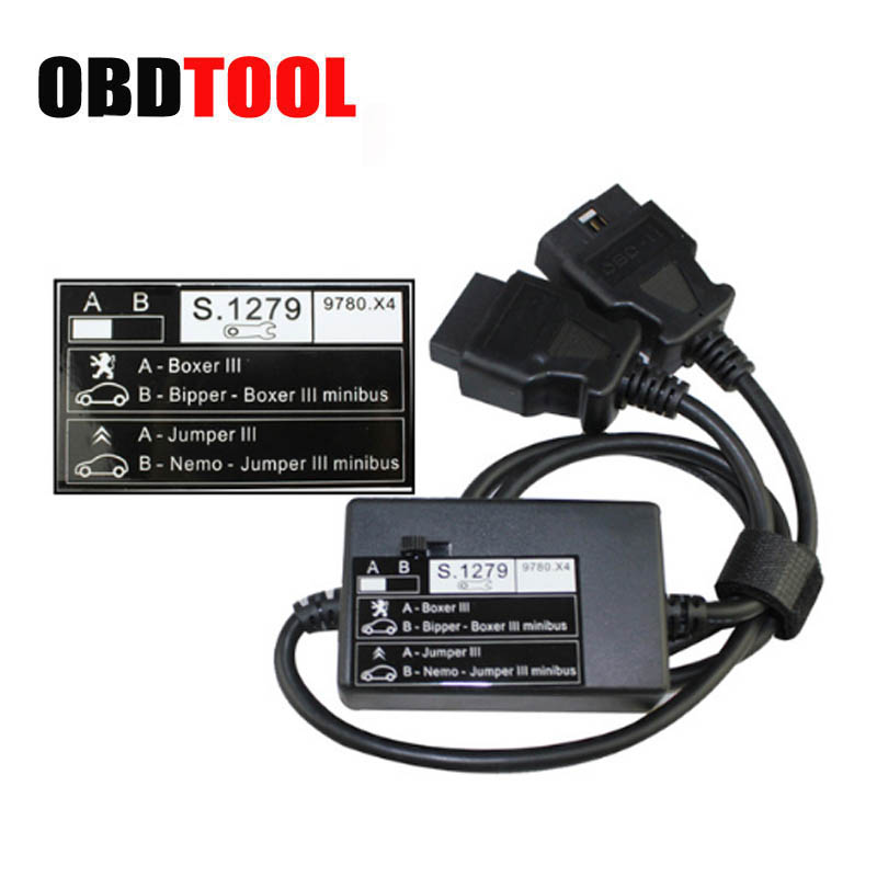 S.1279 Module for Lexia-3 PP2000 Scanner Female Male Obd2 Interface For Citroen/Peugeot Diagnostic Tool S 1279 S1279 of PP 2000