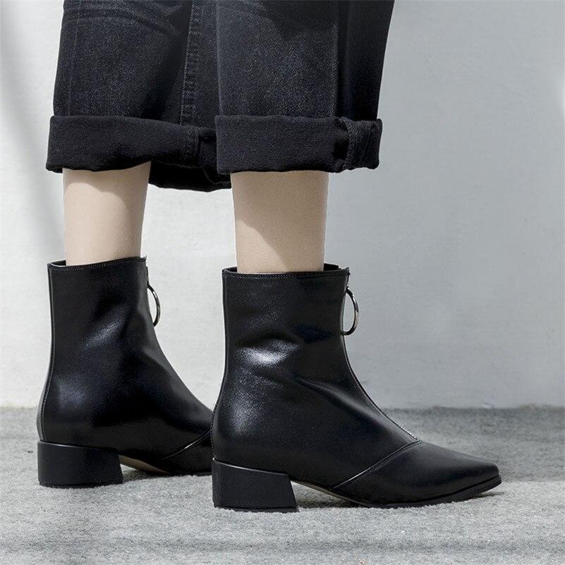 Moto Bout Chaussures Noir Marque Épais Femmes De blanc Hauts Métalliques Fedonas Pointu Boucles Martin Femme Bottines Talons Bottes Parti Punk 0wOPN8nkX