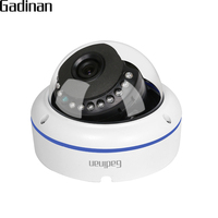 GADINAN H 265 2MP 1080P 20FPS Metal Vandalproof Dome IP Camera Network Motion Detection Email Alert