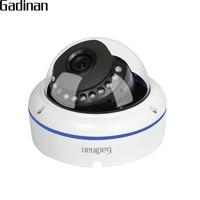 GADINAN H 265 2MP 1080P 20FPS Metal Vandalproof Dome IP Camera Network Motion Detection Email Alert