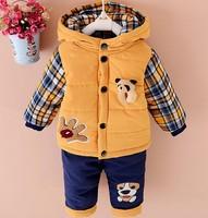 New 2017 Baby Boys Winter Clothing Suit Set Warm Down Jacket Pants Long Sleeve Coat Kis
