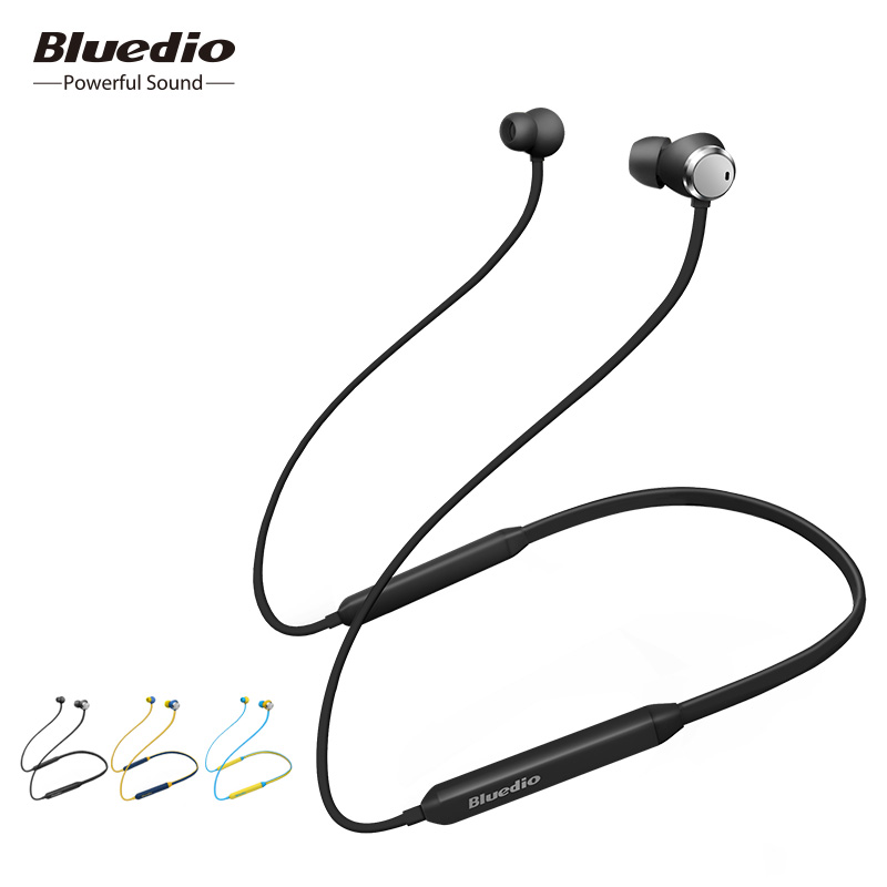 2018 Bluedio TN Bluetooth auriculares con cancelación activa de ruido en la oreja los auriculares con micrófono para teléfono iphone xiaomi